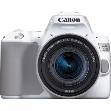 DSLR Camera CANON EOS 250D 18-55 f/3.5-5.6 IS STM White (3458C003)