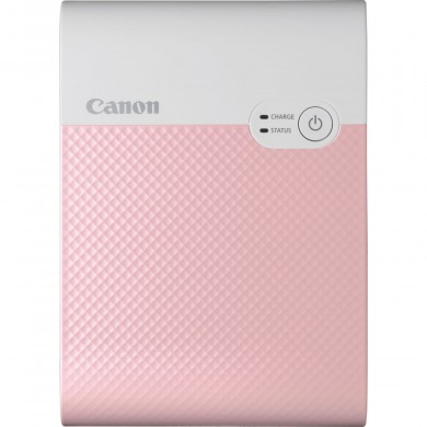 Compact Portable Printer SELPHY SQUARE QX10 QX10 PinK, 287x287dpi, 3 ink,  approx. 43 sec, Built-in Battery,  Wi-Fi, USB, Dim. 102,2 x 143,3 x 31,0 mm, 445gr.,  Sticker paper 72x85 mm, 68x68 mm printable area,(10 pcs in set), Media: XS-20L 20 pages