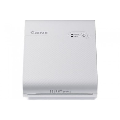 Compact Portable Printer SELPHY SQUARE QX10 White, 287x287dpi, 3 ink,  approx. 43 sec, Built-in Battery,  Wi-Fi, USB, Dim. 102,2 x 143,3 x 31,0 mm, 445gr.,  Sticker paper 72x85 mm, 68x68 mm printable area,(10 pcs in set), Media: XS-20L 20 pages