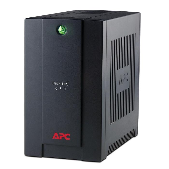 APC Back-UPS BX650CI-RS, 650VA/390W, AVR, 4 x CEE 7/7 Schuko (3 Battery Backup, all 4 Surge Protected), LED indicators, PowerChute USB Port