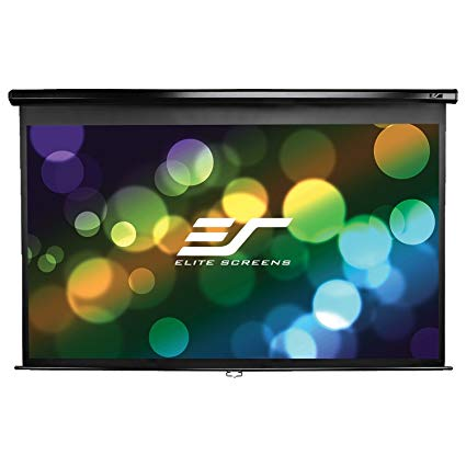 "Elite Screens 120""(16:9) 149,4x265,7cm Manual Pull Down Screen, Black"