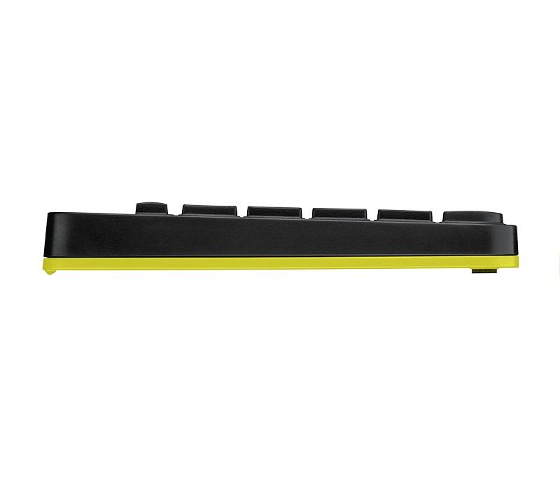 Logitech Wireless Desktop MK240 Nano USB, Keyboard + Mouse, 2.4GHz nano USB receiver, Black/Chartreuse Yellow, Retail