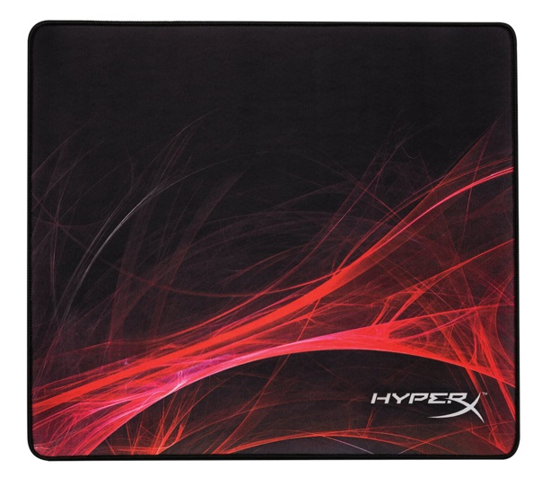 HYPERX FURY S Speed Edition Gaming Mouse Pad Large from Kingston, Natural Rubber, Size 450mm x 400mm x 3.5 mm, Seamless, Stitched edges, Densely woven surface for accurate optical tracking, Compatible with optical or laser mice, Black