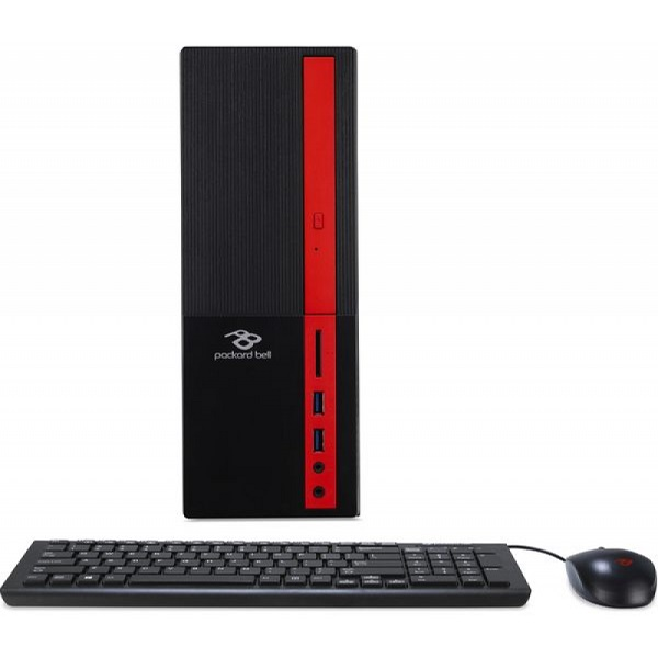 Acer/Packard Bell iMedia S3730 Desktop +W10H(DT.UAVER.003) Intel® Celeron® Dual Core J3355 up to 2.5 GHz, 4GB DDR3 RAM, 500Gb HDD, No ODD, Card Reader, Intel® HD Graphics, VGA, HDMI, Wi-Fi/BT, 90W PSU, Win 10 Home SL Ru, USB KB/MS, Black/Red
