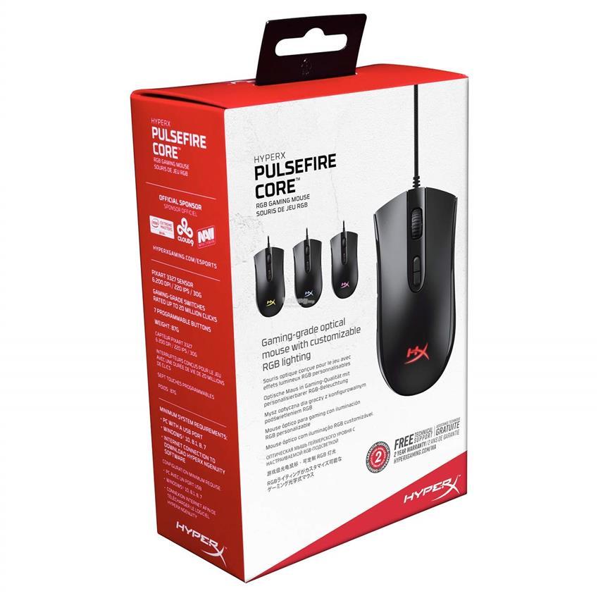 Gaming Mouse HYPERX Pulsefire Core, [HX-MC004B]