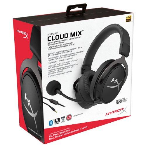 Casti Gaming Wireless HyperX Cloud MIX, Bluetooth/PC, black [HX-HSCAM-GM]