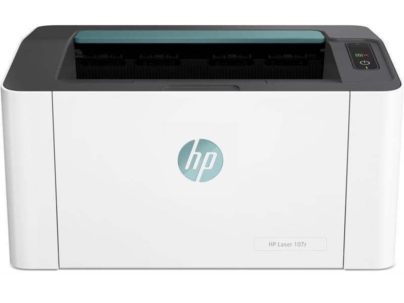 Printer HP Laser 107r, White,  A4, 1200 dpi, up to 20 ppm, 64MB, Up to 10k pages/month, USB 2.0, PCLmS, URF, PWG, W1106A Cartridge HP 106A (~1000 pages) Starter ~500pages