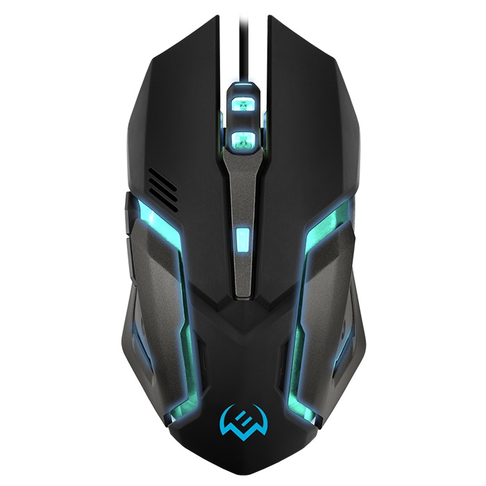 SVEN RX-G740 Gaming, Optical Mouse, 800/1200/1800/2400 dpi, 5+1 buttons (scroll wheel),  DPI switching modes, Two navigation buttons (Forward and Back), USB