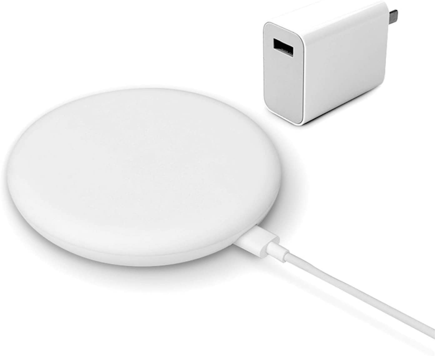 Wireless Qi Charger - Xiaomi Mi Wireless Fast Charging Pad, White, 20W, Qi charger, 1A, Type-C