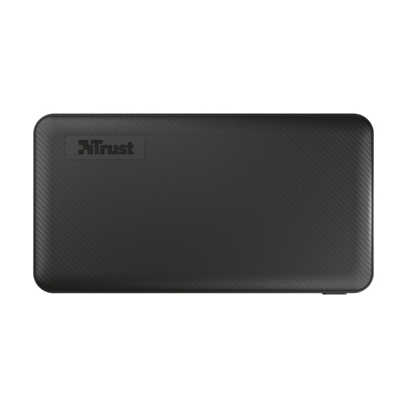 10000mAh Power bank - Trust Primo, Black, Fast-charge with maximum speed via USB-C (15W) or USB-A (12W). Charging speed varies between devices
