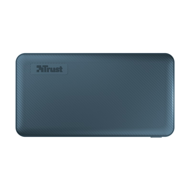 10000mAh Power bank - Trust Primo, Blue, Fast-charge with maximum speed via USB-C (15W) or USB-A (12W). Charging speed varies between devices
