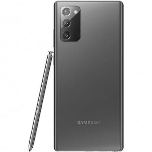 "Samsung Galaxy Note20 5G UK 256GB Gray, DualSIM, 6.7"" 1080x2400 AMOLED, Exynos 990, Octa-Core 2.73GHz, 8GB RAM, Mali-G77 MP11, microSD (dedicated slot), 12MP+64MP+12MP/10MP, USB-C, 4300mAh, FC, WiFi-6/BT5.0, Android 10, NFC"