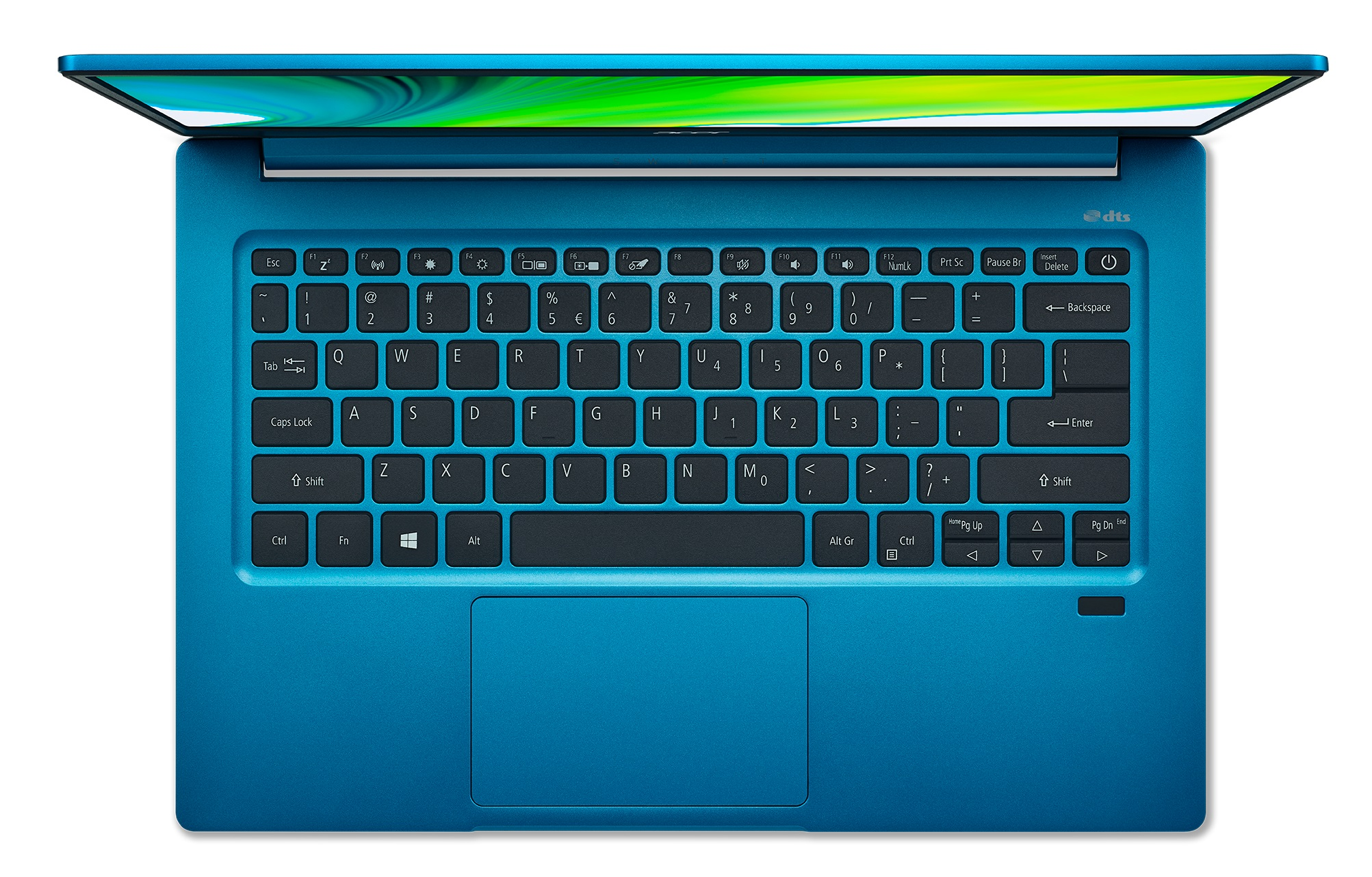 "ACER Swift 3 Aqua Blue (NX.A0PEU.005), 14.0"" IPS FHD (Intel Core i3-1115G4 2xCore, 1.7-4.1GHz, 8GB(1x8) LPDDR4 RAM, 256GB PCIe NVMe SSD, Intel UHD Graphics, WiFi-AX/BT 5.0, FPR, Backlit KB, 3cell, HD Webcam, RUS, No OS, 1.20kg, 15.95mm)"