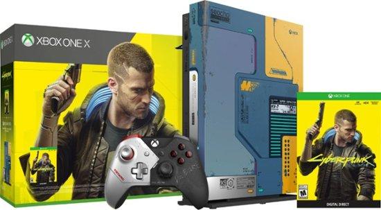 Game Console  Microsoft Xbox One X 1TB Cyberpunk 2077 Limited Edition, 1 x Gamepad (Xbox One Controller)