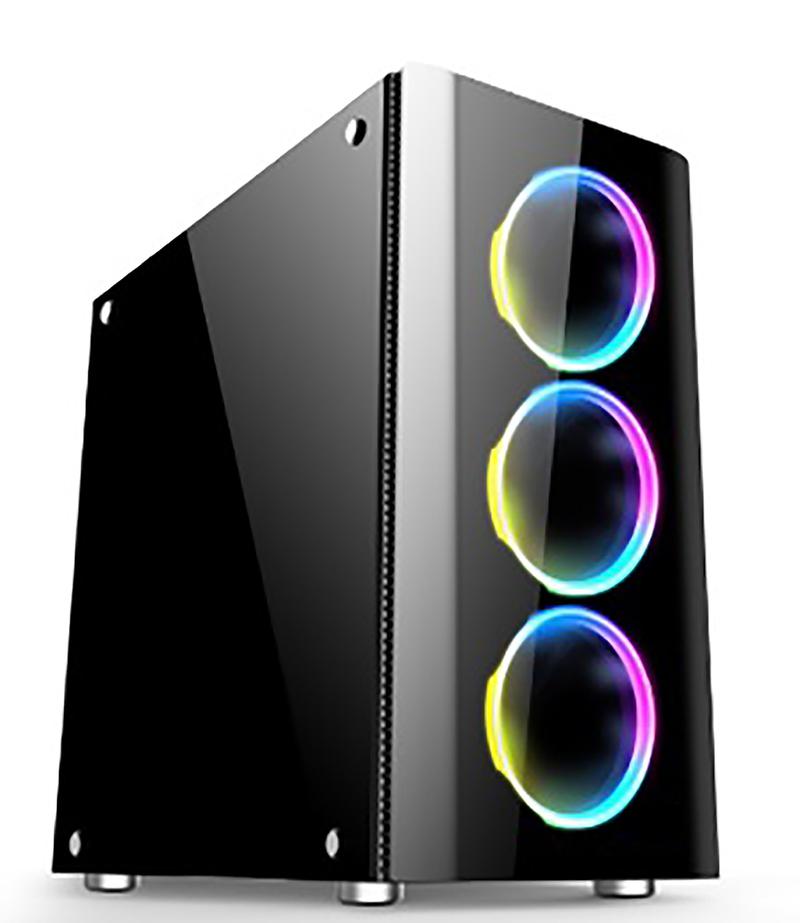 Carcasa XILENCE XG115 / w/oPSU / Side panel / 3x120mm A-RGB fan / ATX / Black
