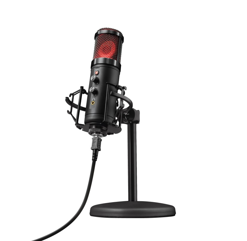 Trust Gaming GXT 256 Exxo USB Streaming Microphone,  5 single colours and RGB cycle