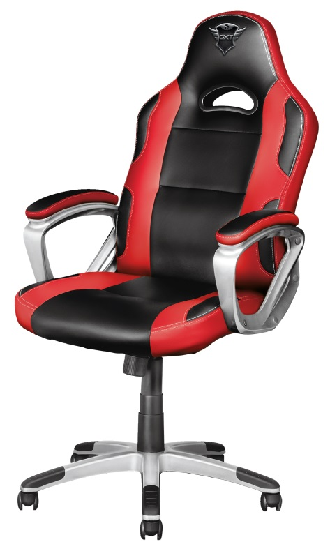 Trust Gaming Chair GXT 705R Ryon, Class 4 gas lift, Armrest with comfortable cushions, Strong wooden frame,Tilting seat with locking possibility, up to 150kg, Red