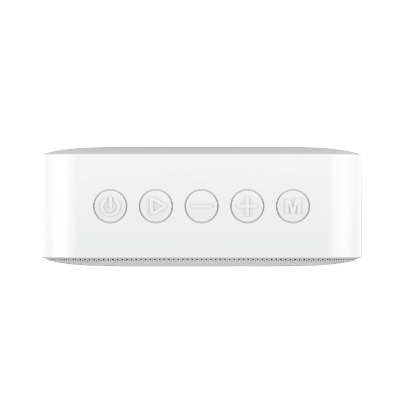 Trust Zowy Compact Bluetooth Wireless Speaker 10W, Waterproof IPX7, Up to 12 hours, Link two speakers wirelessly to boost your party, microSD or 3.5mm aux input, built-in microphone, White