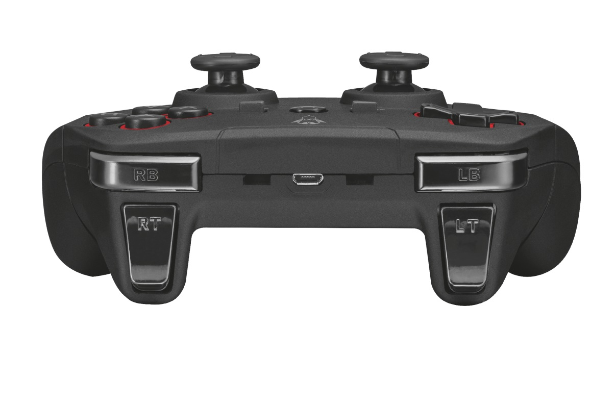 Trust GXT 545 Yula Wireless Gamepad,Wireless gamepad for PC and PS3, 13 buttons, 2 joysticks and D-pad, Rechargeable by USB (cable included), Black