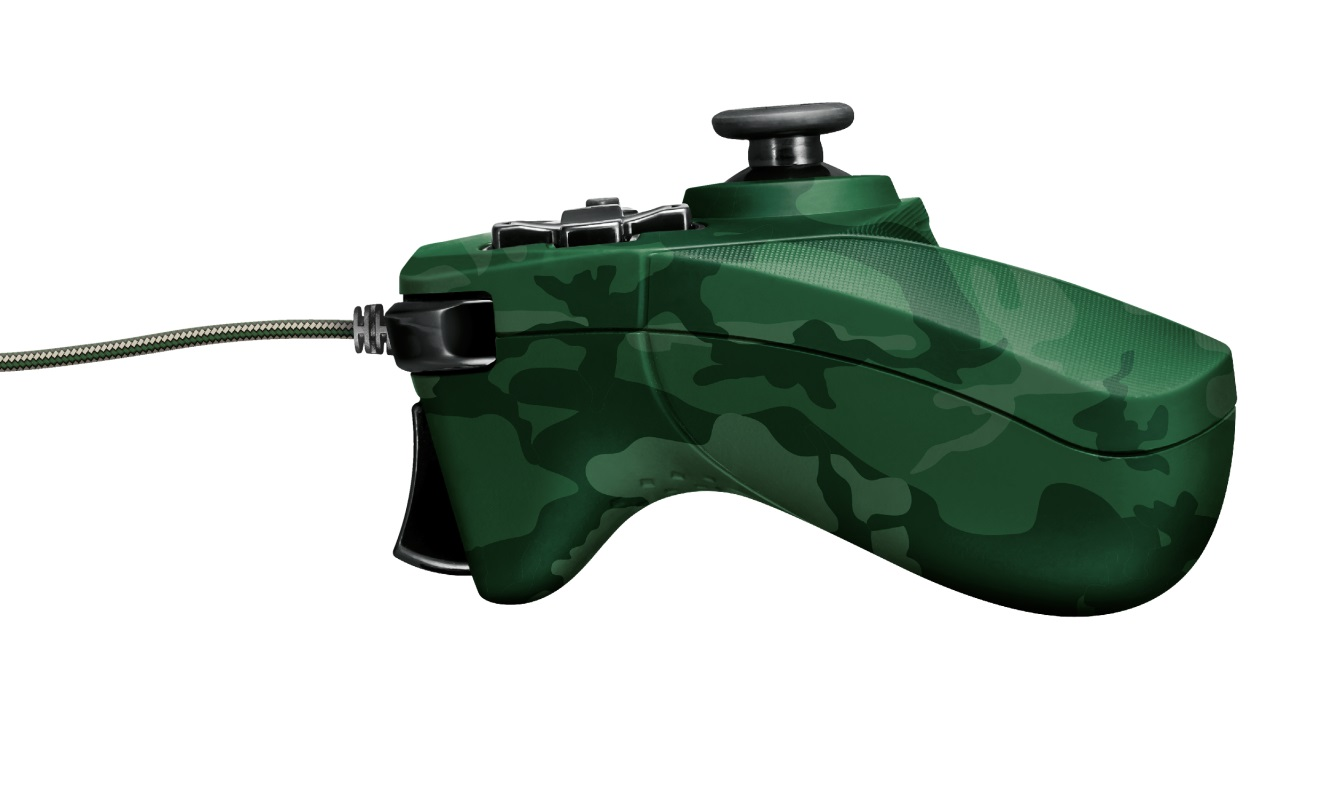 Trust GXT 540C Yula Wired Gamepad for PC and PlayStation 3, 13 buttons, 2 joysticks and D-pad, 3m cable, Camo