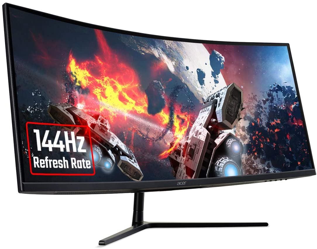 "34.0"" Gaming Monitor 4K ACER Nitro  EI342CKRP [UM.CE2EE.P02] / Curved / 144Hz / Black"